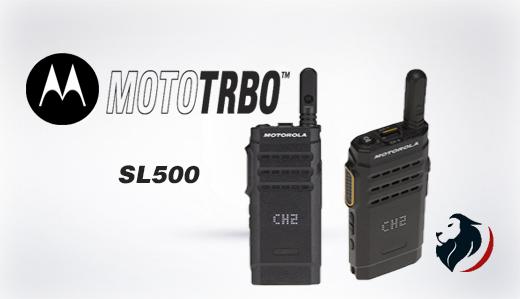 Radio SL500 Portátil de Motorola -Insignia Link