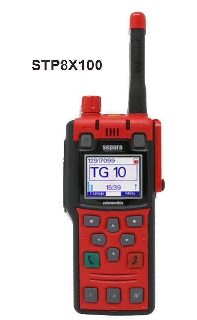 Radios STP8x100 Portátiles Tetra Sepura