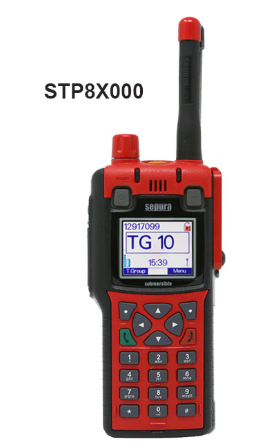 Radios STP8x000 Portátiles Tetra Sepura